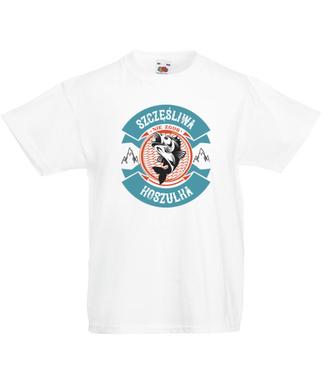 Szczęśliwa koszulka wędkarska - Koszulka z nadrukiem - Wędkarskie - Dziecięca