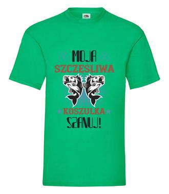 Koszulka na udane połowy - Koszulka z nadrukiem - Wędkarskie - Męska