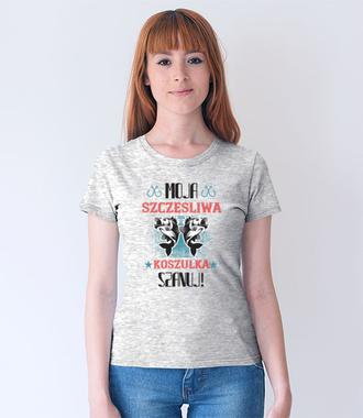 Koszulka na udane połowy - Koszulka z nadrukiem - Wędkarskie - Damska