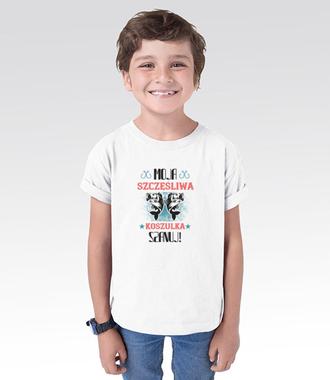 Koszulka na udane połowy - Koszulka z nadrukiem - Wędkarskie - Dziecięca