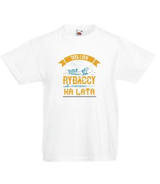 Wędkowanie pokoleniowe - Koszulka z nadrukiem - Wędkarskie - Dziecięca