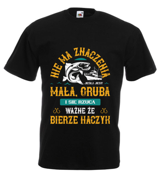 Koszulka wędkarska z podtekstem - Koszulka z nadrukiem - Wędkarskie - Męska