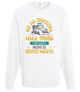 Koszulka wędkarska z podtekstem - Bluza z nadrukiem - Wędkarskie - Męska