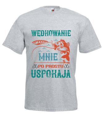 Wędkowanie koi nerwy - Koszulka z nadrukiem - Wędkarskie - Męska