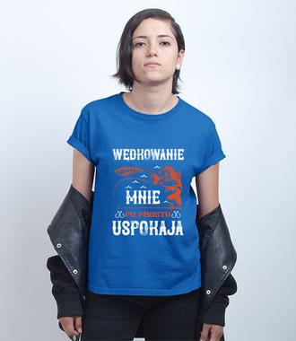Wędkowanie koi nerwy - Koszulka z nadrukiem - Wędkarskie - Damska