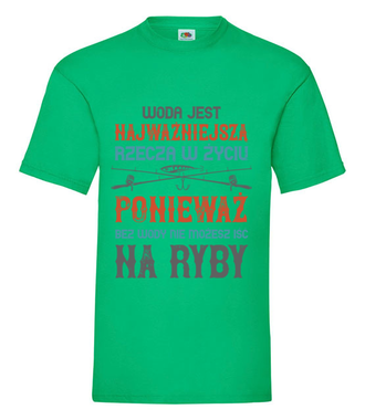 Wędkuj na wesoło - Koszulka z nadrukiem - Wędkarskie - Męska