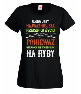 Wędkuj na wesoło - Koszulka z nadrukiem - Wędkarskie - Damska