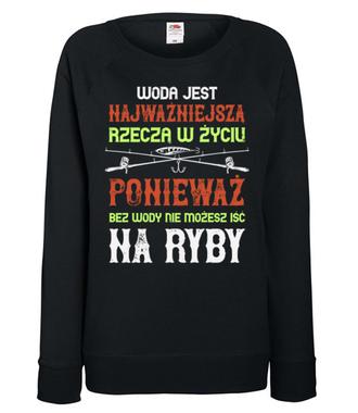 Wędkuj na wesoło - Bluza z nadrukiem - Wędkarskie - Damska