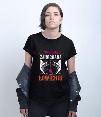 Kobieca koszulka wędkarska - Koszulka z nadrukiem - Wędkarskie - Damska