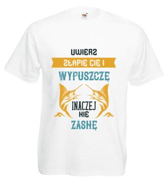 Z wędkarskim poszanowaniem życia - Koszulka z nadrukiem - Wędkarskie - Męska