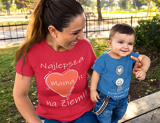 Koszulki z nadrukiem dla najlepsza mama na ziemi