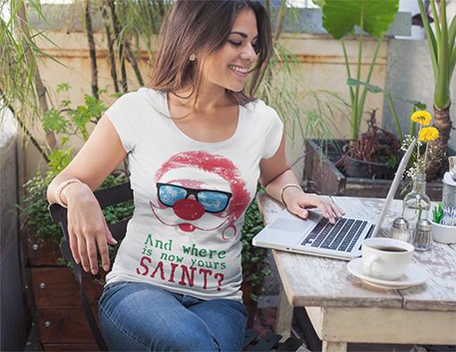 Nadruki swiateczne koszulki damskie
