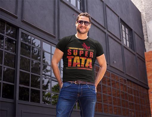 Nadruki na koszulki super tata