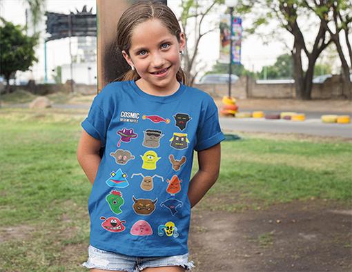 Nadruki na koszulkach symbol cosmic heroes