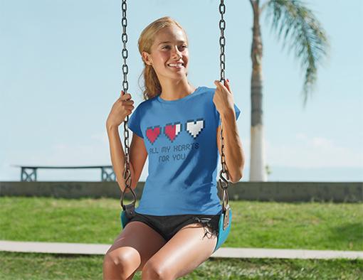 Nadruki na koszulkach wszystkie serca dla ciebie