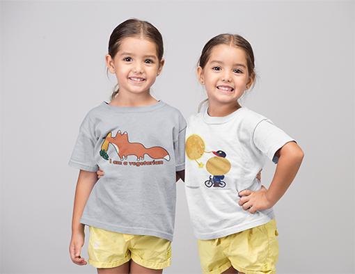 Nadruki na koszulkach dzieciece