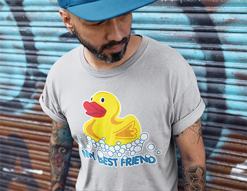 Nadruki na koszulkach kaczka moj najlepszy przyjaciel