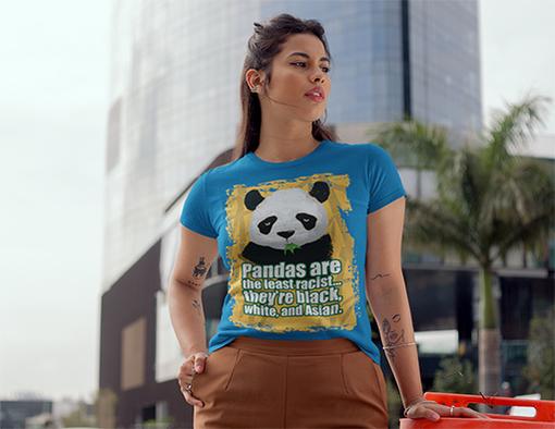 Nadruki na koszulki pandy rasistki