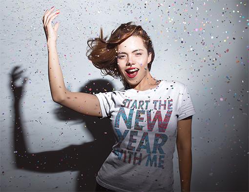 Nadruki na koszulki zacznij nowy rok ze mna