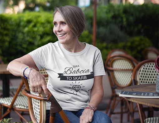 Dla babci koszulki werprint 1